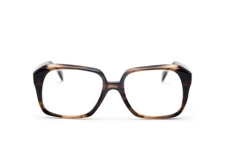 Vintage antique eyeglasses isolated on the white background