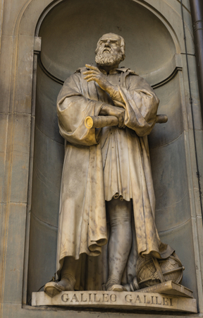View at Galileo Galilei monument in Florence, Italy 報道画像