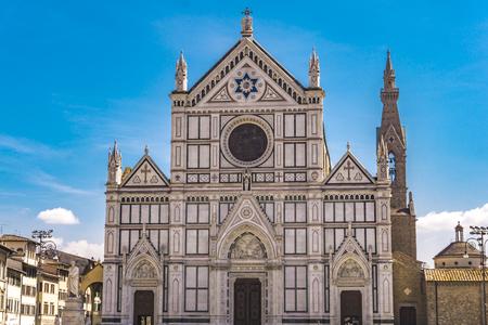 Basilica di Santa Croce (Basilica of the Holy Cross), principal Franciscan church in Florence, Italy with neo-gothic facade