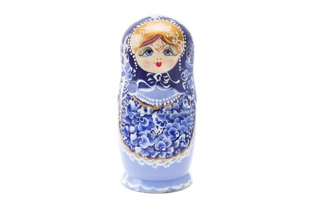 Russian nesting doll, matryoshka isolated on the white background Stock Photo