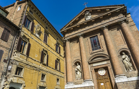 View at Chiesa di San Cristoforo in Siena, Italy
