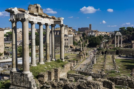 Detail of the Roman Forum in Rome, Italy Stock Photo
