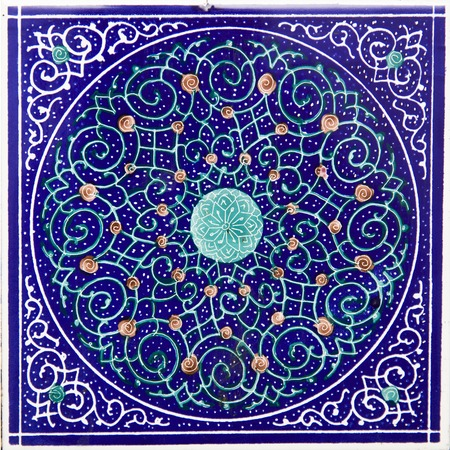 View at colorful traditional Iranian decorative ceramic tiles Reklamní fotografie