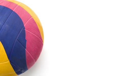 Colorful water polo ball isolated on the white background