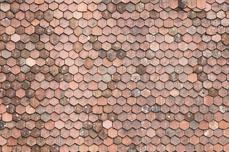 Backdrop made of old roof tiles, view from above Zdjęcie Seryjne