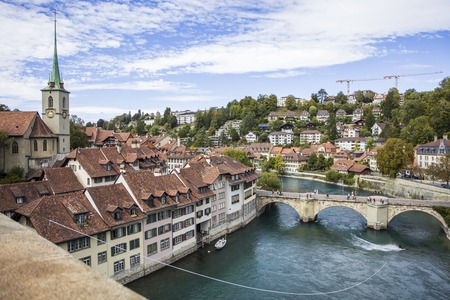 View at old town Bern in Switzerland Stock Photo