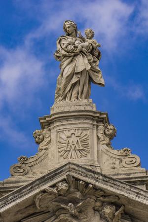 Detail from church Santa Maria Maggiore in Rome, Italy 스톡 콘텐츠