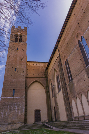 View at Basilica of San Domenico in Siena, Italy