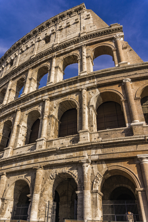 Detail from the ancient Colosseum in Rome, Italy 写真素材