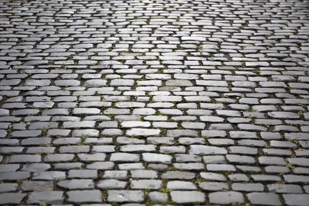 Closeup detail of the stone block pathway Stockfoto