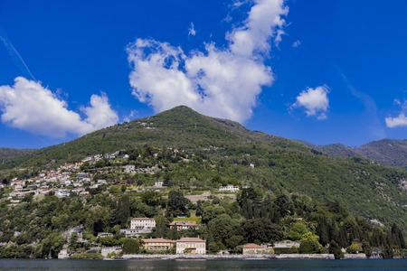 View at town Cernobbio on Lake Como in Italy