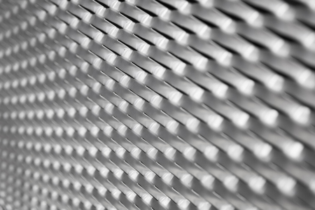 Closeup detail of the sheet metal backdrop