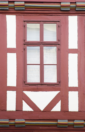 View at traditional window from Hanover, Germany Stock Photo