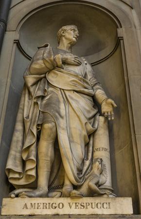 View at explorer Amerigo Vespucci monument in Florence, Italy Stock fotó