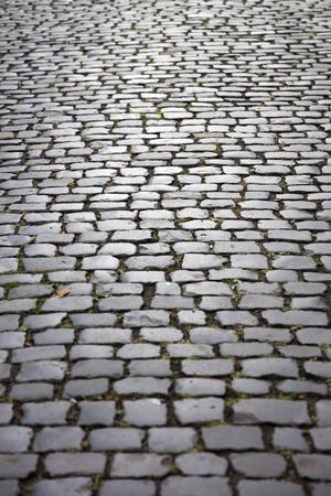 Closeup detail of the stone block pathway Stok Fotoğraf - 111502848