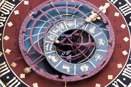 Detail of the Zytglogge (Zodiac clock tower) in Bern, Switzerland Banque d'images