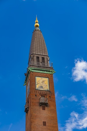View at tower on City Hall Square in Copenhagen, Denmark Stock Photo