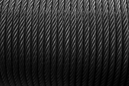 Closeup detail of the steel cables bacckdrop