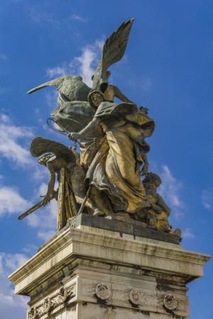 Statue Il Pensiero by Giulio Monteverde at Vittoriano in Rome, Italy