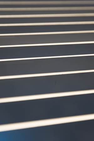 Closeup detail of the sheet metal lines backdrop