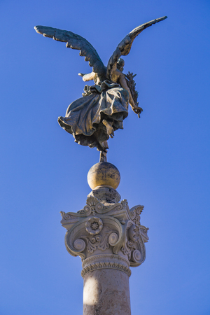Vittoria alata statue at Altar of the Fatherland in Rome, Italy Stock Photo