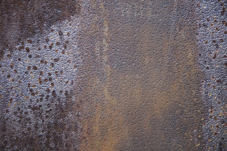 Closeup detail of the rusty metal backdrop Stock Photo
