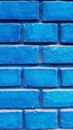 Closeup detail of the blue brick wall Banque d'images - 112459168