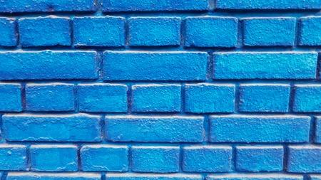 Closeup detail of the blue brick wall Banque d'images - 112601090