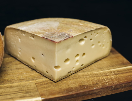 Traditional Auvergne cheese from France 版權商用圖片