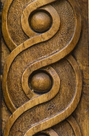 Nahaufnahme auf Holzschnitzformen