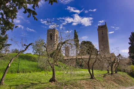 Medieval rchitecture of town San Gimignano in Tuscany, Italy