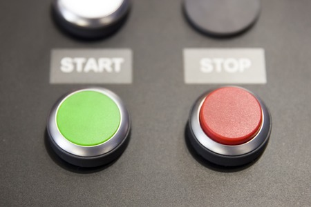 Start and stop green and red buttons