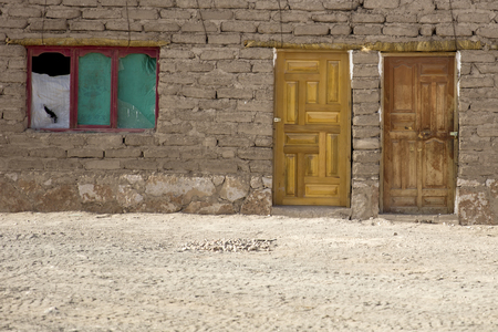 Detail of the traditional old stone house from Bolivia