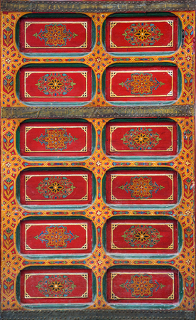 Closeup of the traditional moroccan wall decoration in Rabat, Morocco Stock Photo