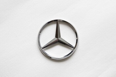 BELGRADE, SERBIA - APRIL 18, 2018: Mercedes-Benz sign in Belgrade, Serbia. German global automobile company and a division of Daimler AG founded at 1926.