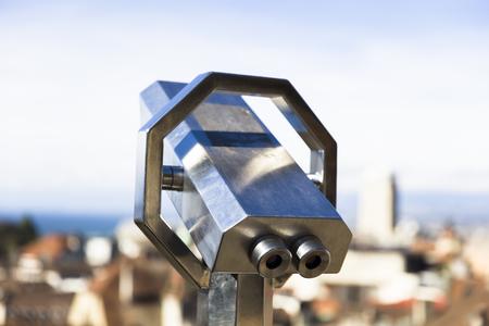 Close up of binocular viewer Foto de archivo