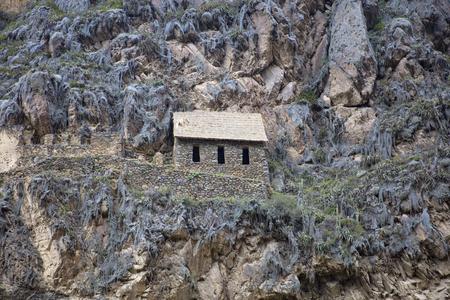 Ollantaytambo Inca ruins in Sacred Valley, Peru