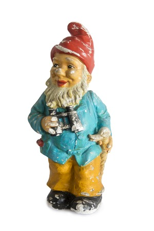 Vintage garden gnome isolated on the white background Standard-Bild - 117381323