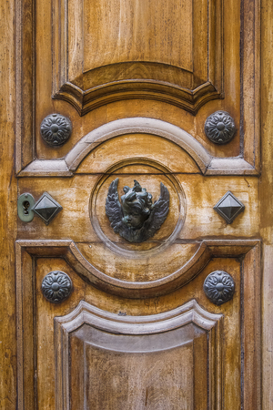 Detail of traditional front door from building on Malta Reklamní fotografie