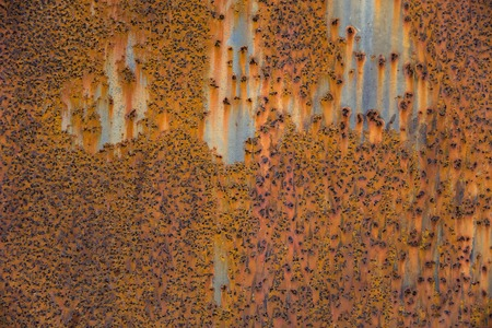 Detail of the rusty metal texture background for industrial construction concept design