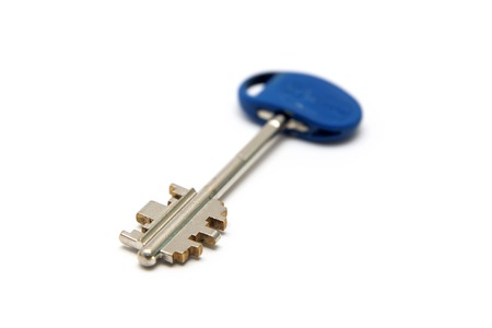 Door key isolated on the white background