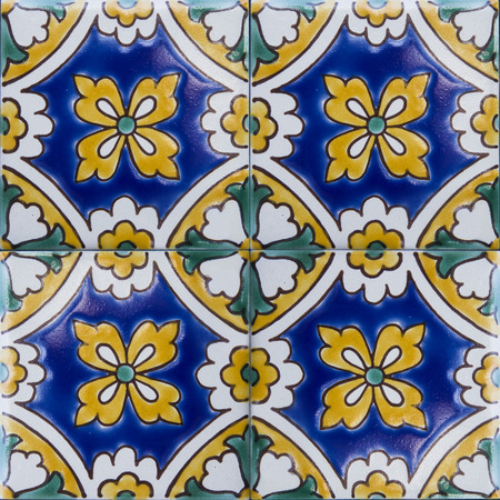 Detail of the traditional tiles from Mdina, Malta 版權商用圖片