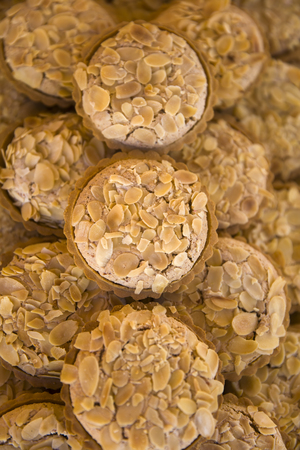 Traditional Maltese almond cakes on the market Marsaxlokk Open Market