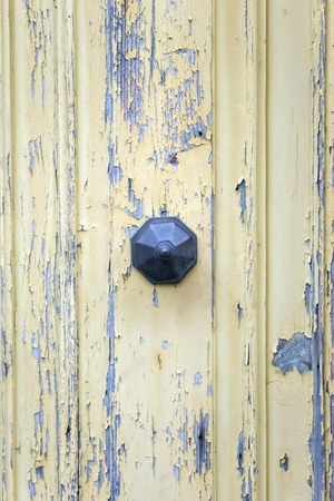 Detail of traditional front door from building on Malta 写真素材