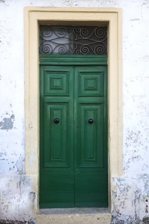 Ver en la puerta de entrada tradicional del edificio en Malta