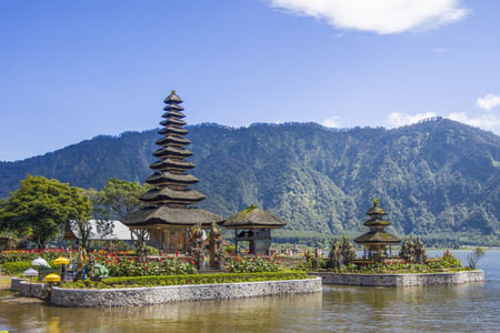 Ulun Danu Beratan Temple on Bali, one of the most beautiful temples on the island