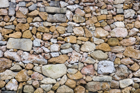 Closeup of the old stone wall texture backdrop
