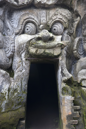 Ancient balinese temple Goa Gajah (Elephant Cave) on Bali island in Indonesia Imagens