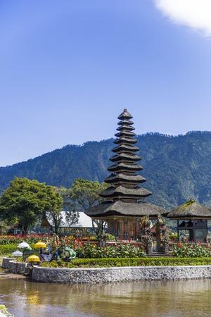 Ulun Danu Beratan Temple on Bali, one of the most beautiful temples on the island