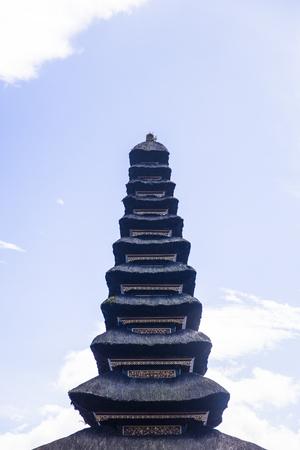 Detail from the Ulun Danu Beratan Temple in Bali, Indonesia Фото со стока